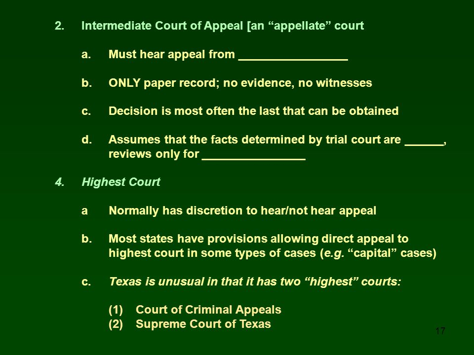 2. Intermediate Court of Appeal [an appellate court